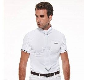HARCOUR Polo Crystallo Blanc