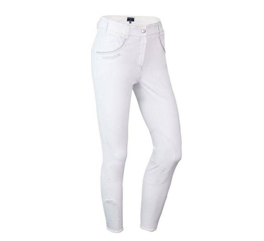 HARCOUR KIDS Pantalon d'equitation Sultane Blanc