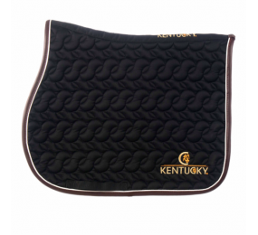 KENTUCKY Saddle Pad Black White Brown