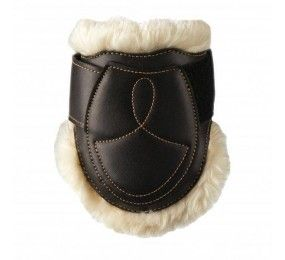 KENTUCKY Sheepskin Fetlock Boots Velrco Brown