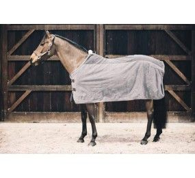 KENTUCKY Couverture Fleece Rug « Heavy » Grey