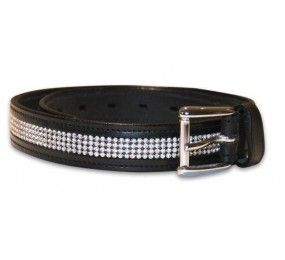 Belt Leather Black with Strass