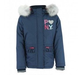 EQUITEME Kids Pony Love Reversible Padded Packet with Hood Pink/Navy
