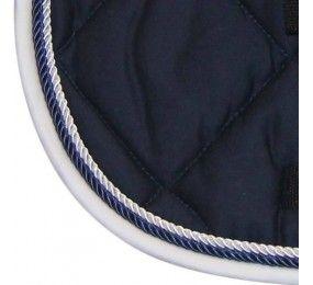 HFI Saddle Blanket Dressage Navy-White
