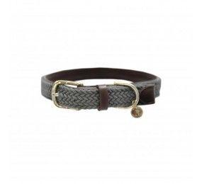 KENTUCKY Plaited Nylon Dog Collar Grey