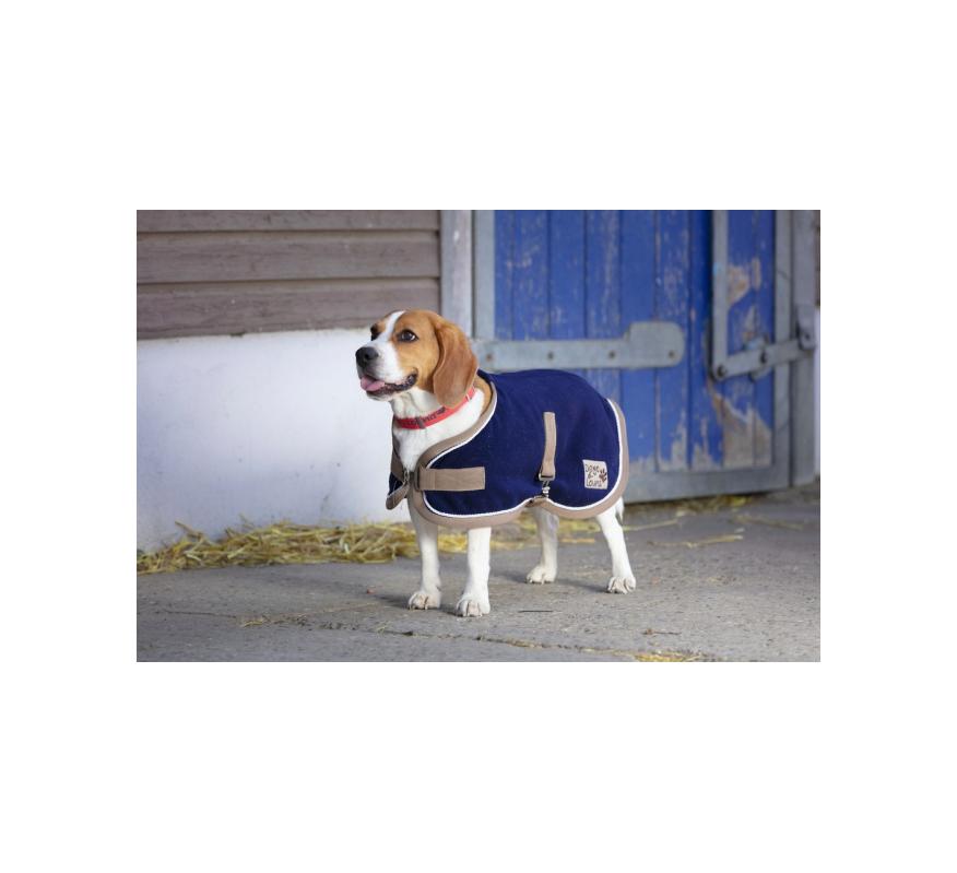 DIEGO Polyfun Hunde Fleecemantel Blau
