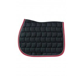 HARCOUR Chantilly Tapis de Selle Noir / Rouge