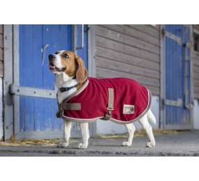 DIEGO Polyfun Hunde Fleecemantel Burgundy