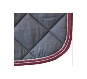 HFI - Saddle Pad Grey Cord Bordeaux/Silver
