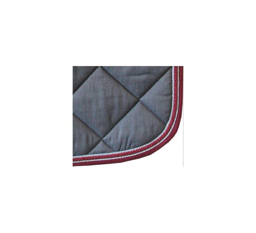 HFI - Schabracke Graue Kordel Bordeaux/Silber