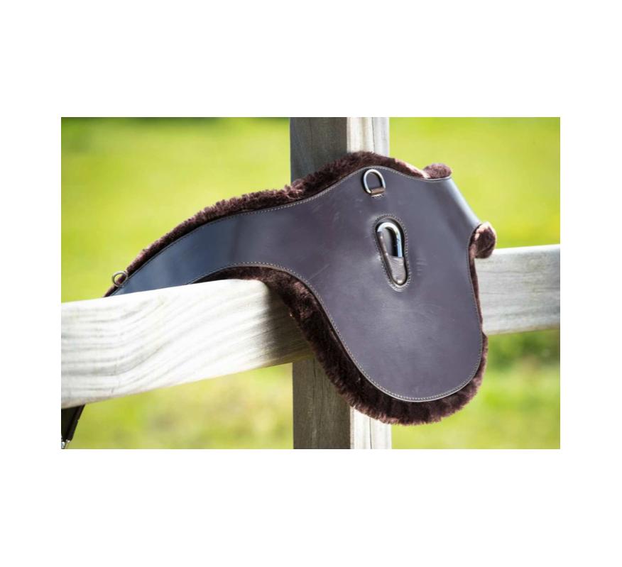 HFI Sangle Bavette en cuir avec mouton synthétique