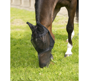 EQUITHEME Fine Mesh Fly Mask Black