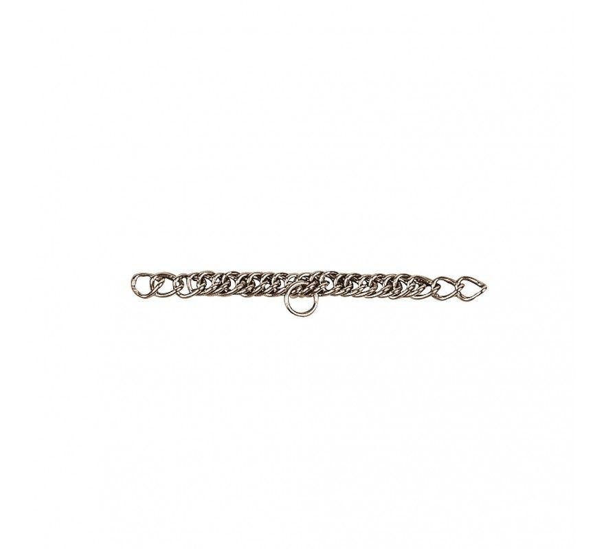 Bordsteinkette bestehend aus 24 Ringen aus Edelstahl oder Stahl