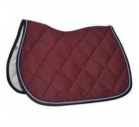 PRIVILEGE Jumping Saddle Pad Palm Beach burgundy-navy-grey