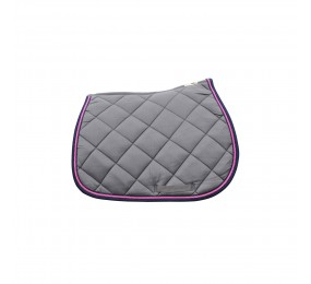 PRIVILEGE Jumping Saddle Pad PB gris-marine-rose