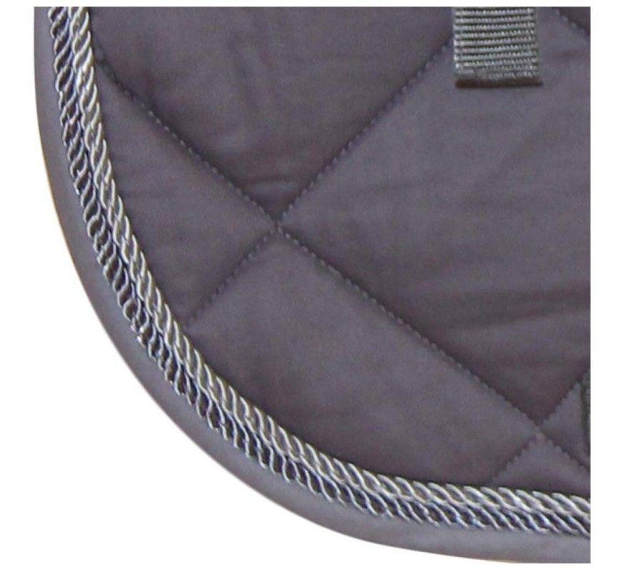 HFI Tapis de selle gris cordelettes gris foncé - gris clair