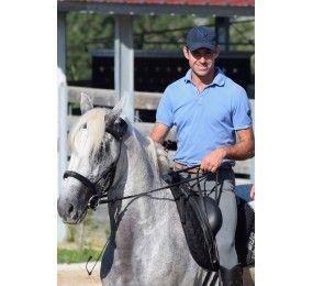 BYKRF Polo homme manches courtes bleu clair