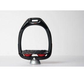 FLEX-ON Grüne Verbundwerkstoff-Bügel - Schrägblechbereich mit Ultragrip - schwarz/schwarz/red