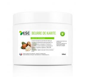 ESC LABORATOIRE Beurre de Karité – Pur et riche en vitamines A et E – Nourrit et protège l'épiderme du cheval