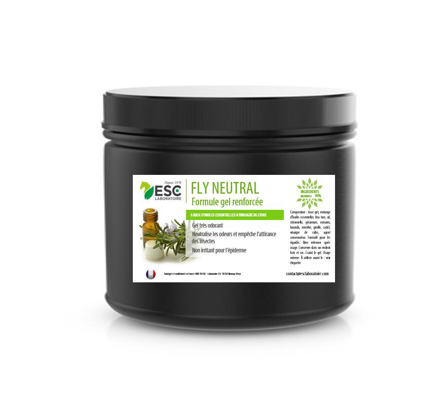 ESC LABORATOIRE Fly neutral gel – Gel insectes cheval – À base d'huiles essentielles