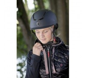 EQUITHEME Helmet with colorful insert Black