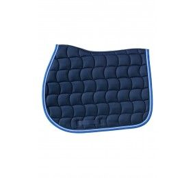 HARCOUR Chantilly Saddle Pad Navy / Blue electric