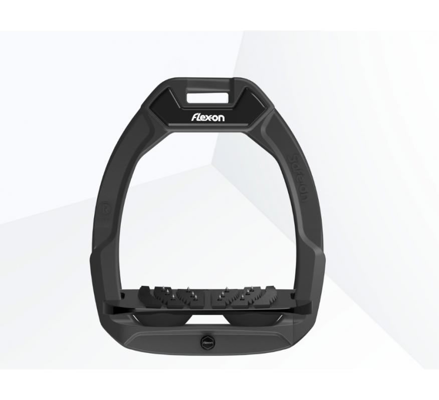 FLEX-ON Safe-On Etrier de sécurité plateau incliné Ultragrip - Gris anthracite/noir/noir