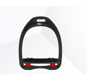 FLEX-ON Aluminium stirrup inclined platform - Black/Red