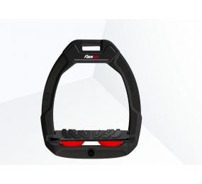 FLEX-ON Safe-On Sicherheitsbügel Schrägplatte Ultragriff - schwarz/schwarz/red