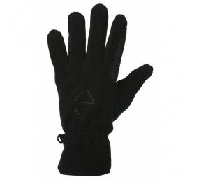 EQUITHEME Gloves fleece picots