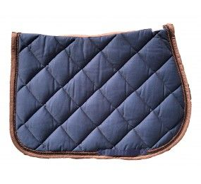 CRISTINA SPORT Saddle Pad Navy with strass brown and black