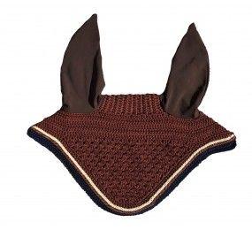 CRISTINA SPORT Bonnet brun cordelettes beige-brun
