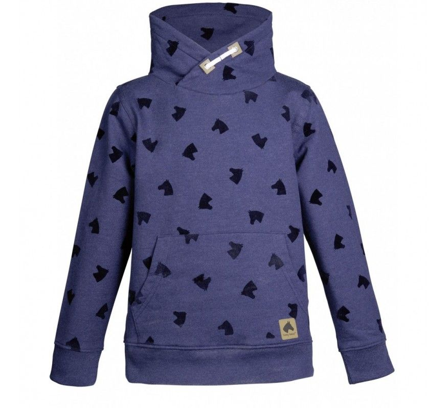 The HKM Little Horses sweater in navy.