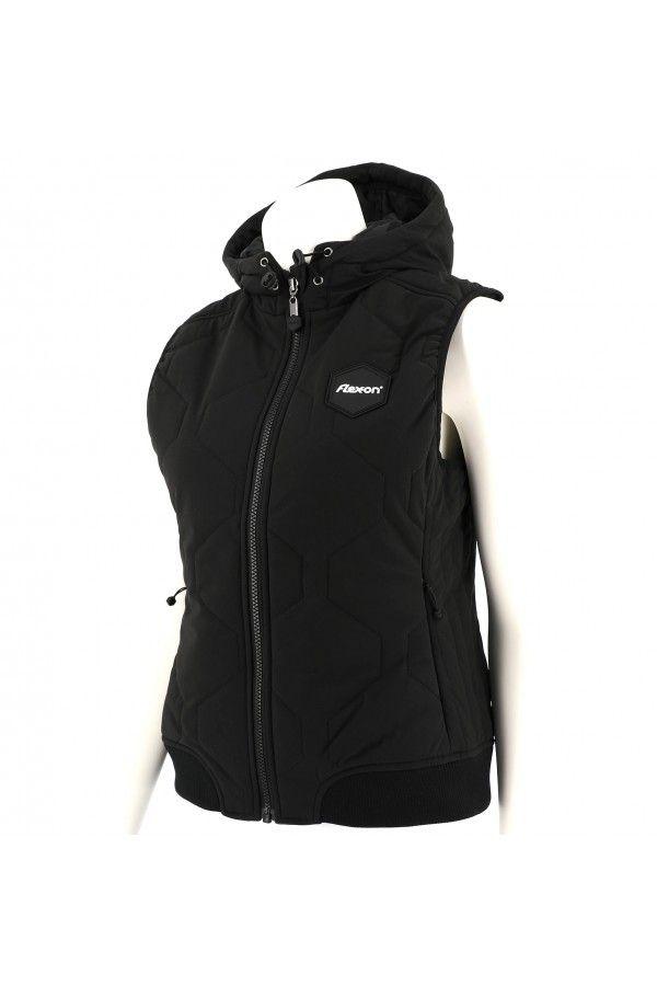 Women Down Jacket by Flex on in black colour