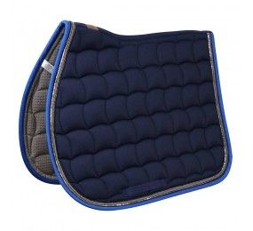 HARCOUR Saddle Blancket Rider Silver Navy/Blue