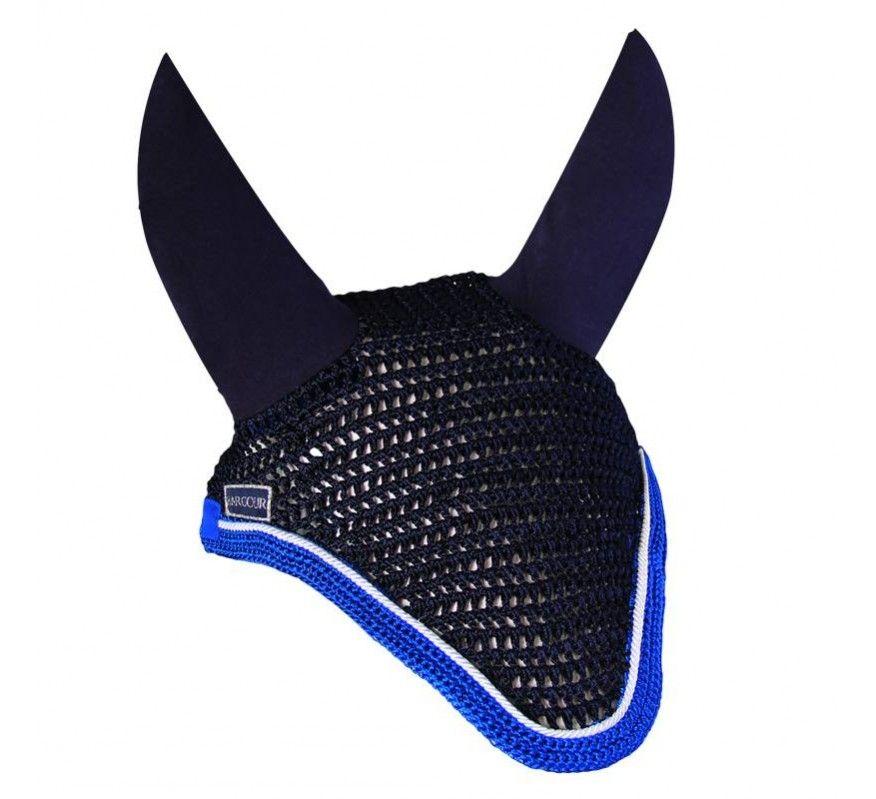 HARCOUR Bonnet Diamant marine - Galon bleu élec - Cord blanche