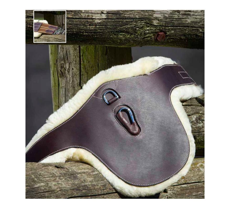 HFI Stud Girth Leather with sheep