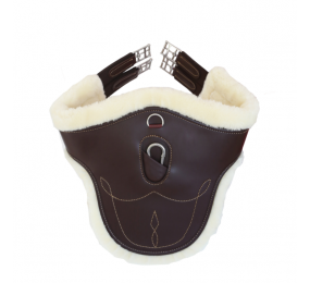 KENTUCKY Sheepskin Stud Girth brown