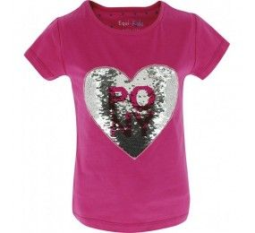 Equithème T-Shirt Enfant Magique Pony Love Rose