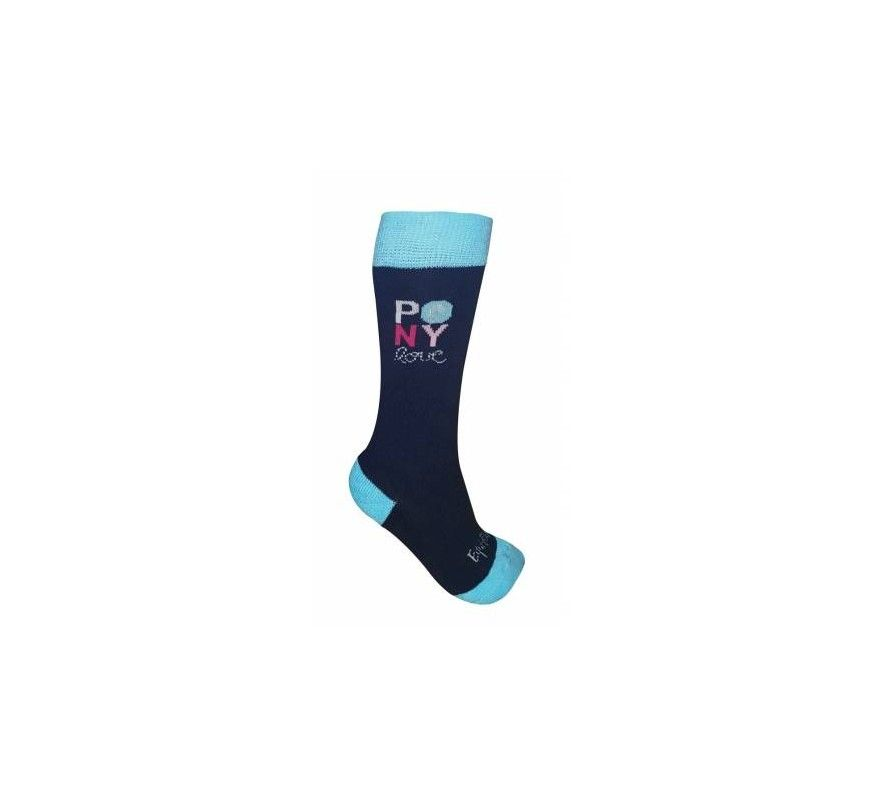 Equithème Chausettes Kids Pony Love Marine