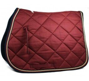 HFI Saddle Blanket Burgundy-Navy-Brown