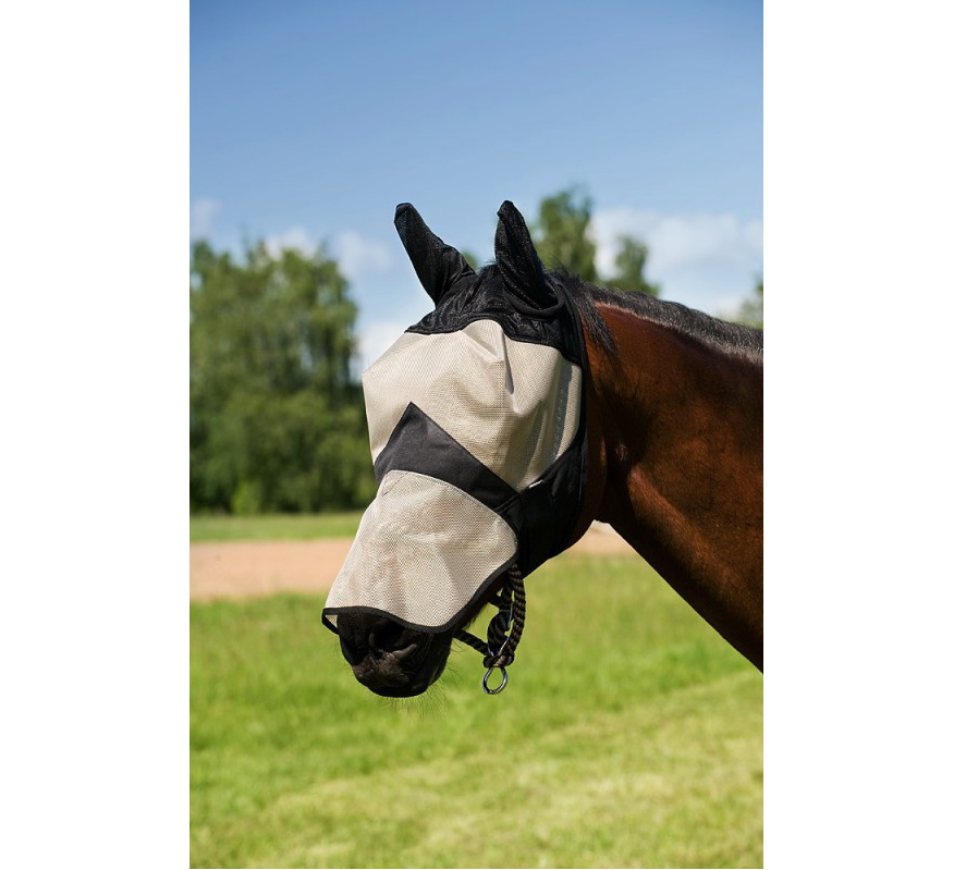 EQUITHEME Thick mesh fly mask