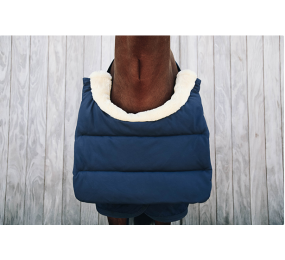 KENTUCKY Horse BIB Sheepskin Navy